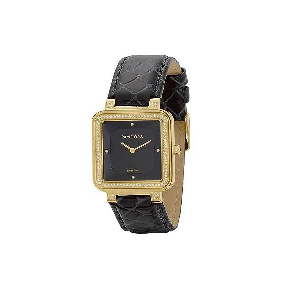Pandora 812030BK - Reloj para mujeres, correa de cuero color negro: Amazon.es: Relojes