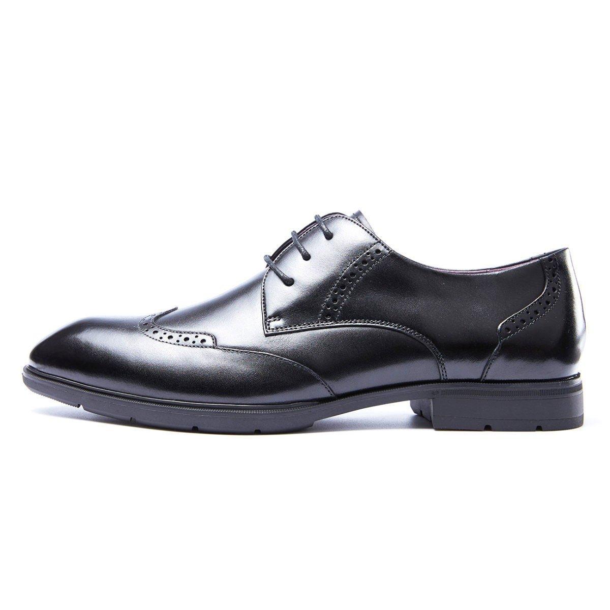 LEDLFIE Herrenschuhe Business Formal Wear Lederschuhe Schnürsenkel Tipps schwarz Niedrig Schuhes Single Schuhes schwarz Tipps b83348