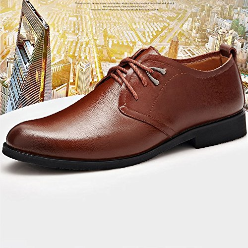 Color EU da 2018 Winter Stringate Primavera Gentlemen 42 Shoes classiche Scarpe Formali for morbide Flats Size uomo pelle in Estate Dress PU Black Brown suola HtgtwrvAq