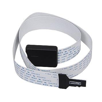 Winwill® TF Micro SD a la Tarjeta del SD Adaptador del Cable Extensor Flexible del Coche para el GPS del Coche