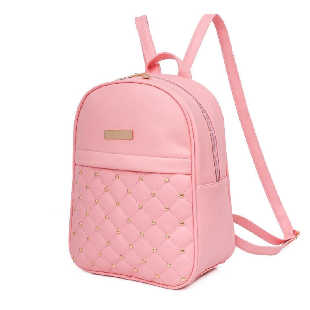 e30697c8c7c85a Amazon.com: Hemlock Teen Girl Backpacks, Women College School Bag Shoulder  Backpacks (Pink): Clothing