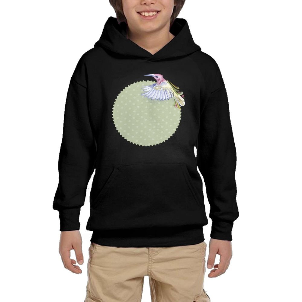 GLSEY Three Bird Summer Pattern Youth Soft Pullovers Hooded Sweatshirts Long Sleeve