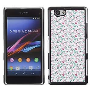 ZECASE Funda Carcasa Tapa Case Cover Para Sony Xperia Z1 Compact (Mini) No.0000210