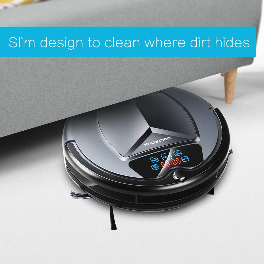Liectroux B3000 Robot Vacuum Cleaner with Self Charging LED Touch Screen  with Tone, HEPA Filter, Two