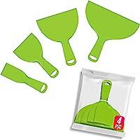 KOTWDQ 4 Pack Putty Knife, Large Size Pack, Flexible Plastic Paint Scraper Tool for Spackling, Wallpaper Scraper Plastic…