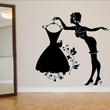 TYLPK Vinilo pegatina flor falda vestido arte de la pared pegatina ...