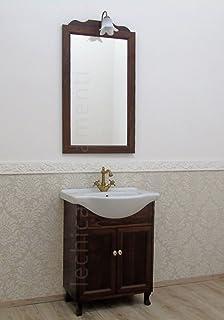 mobile arredo bagno arte povera decapè da 120 cm lavabo bianco in ... - Mobili Arredo Bagno In Arte Povera