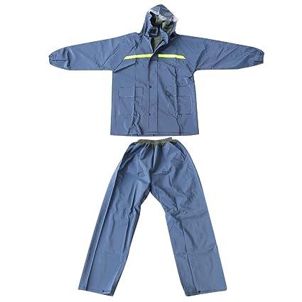 Unisex Outdoor Waterproof Rainsuit Jacket   Trouser Coveralls Navy Blue   Amazon.in  Sports 0c3ea48ae