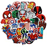 Waterproof Vinyl Stickers for Skateboard Guitar Laptop Motocycle Car Luggage Decal Graffiti Stickers (50 pcs for Super Hero Style)