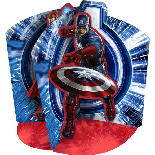 Marvel Avengers Centerpiece Featuring Captain America, Iron Man and Thor by Hallmark