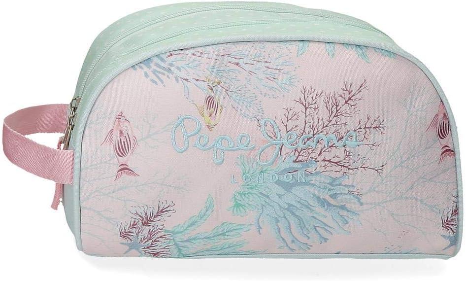 Pepe Jeans Ariel - Neceser con dos compartimentos, 26 cm, Multicolor