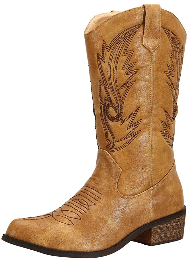 Wide Calf Western Cowgirl Cowboy Boots