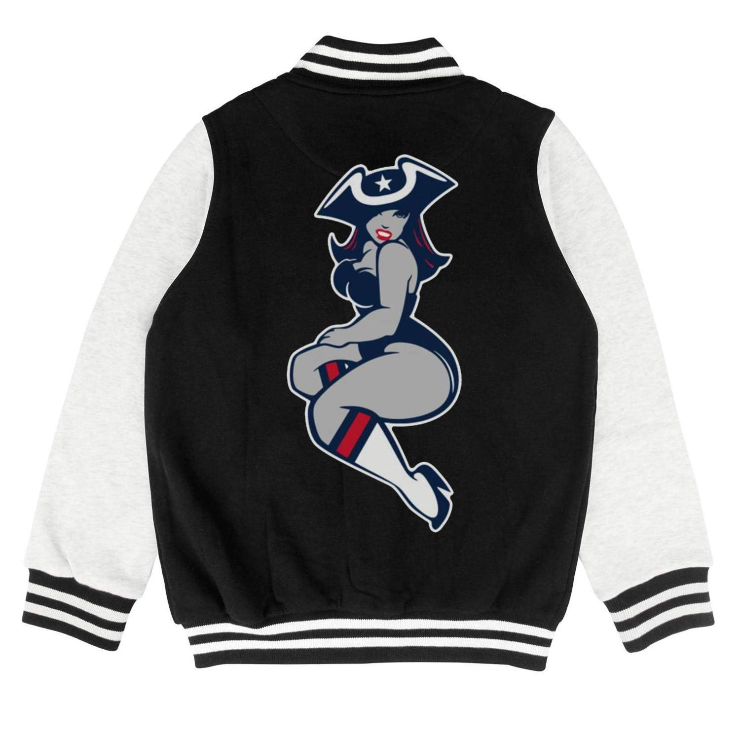 Cartoon Style Cotton Sweatshirt Button Varsity Baseball Jacket 2-10 Years Kids Girls Boys Football-MVP-Tom-Goat-12