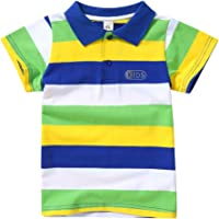 Miyanuby Bebe Niño Camisa Polo Classic Fit Polo A Rayas De Manga Corta Camiseta para Niños Camisetas De Verano Camisetas…