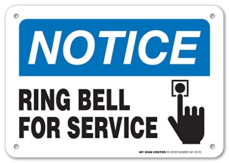 Amazon.com: Aviso Ring Bell para servicio Sign – Ideal para ...