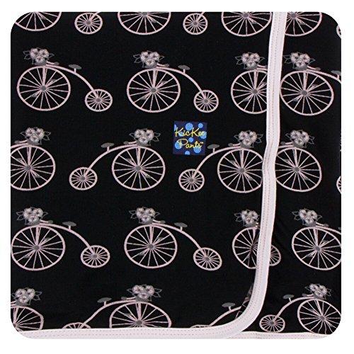 Midnight Elephants (KicKee Pants Swaddling Blanket Girl Midnight Bikes)