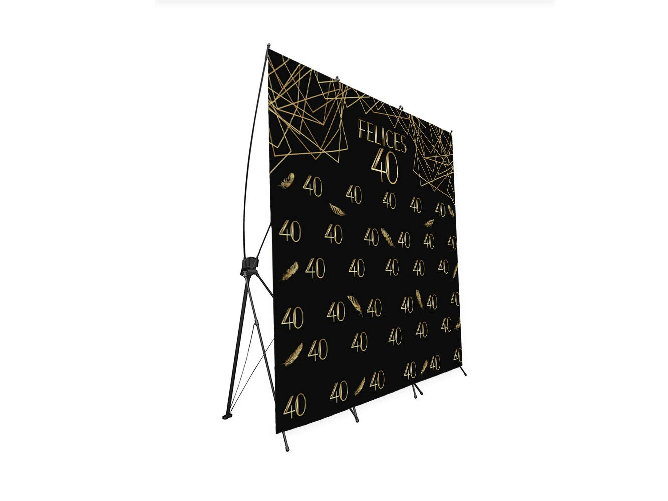 Photocall X-Banner Extensible 100% Felices 40 | 250x200cm ...