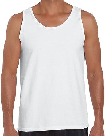 FLAVES FASHION - Camiseta de Tirantes - para Hombre Blanco Blanco Medium: Amazon.es: Ropa y accesorios