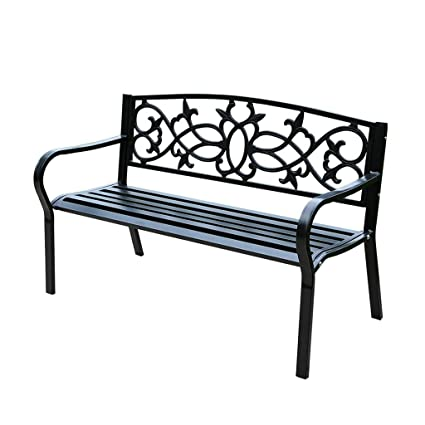 Groovy Amazon Com Garden Benches Garden Bench Iron Carved Garden Creativecarmelina Interior Chair Design Creativecarmelinacom