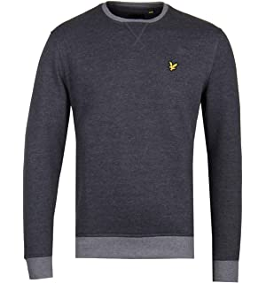 98bfe91c489c Lyle & Scott Navy Ottoman Stitch Pocket Sweatshirt: Amazon.co.uk ...