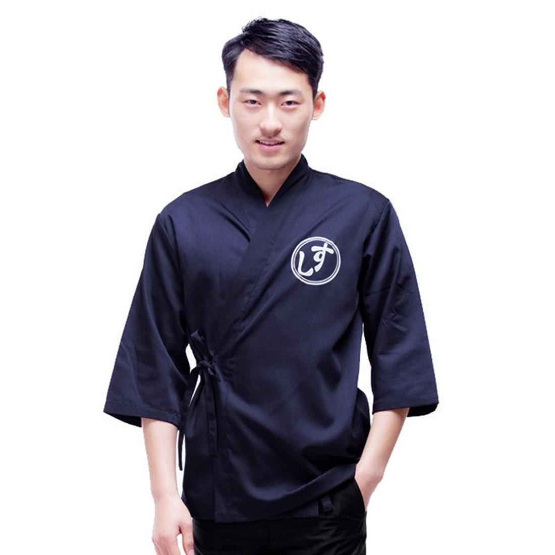 Pinji Japanese Style Chef Coat Jacket for Men Women Workwear Sushi Restaurant Catering Uniform Work Clothes Kitchen Asian 2XL