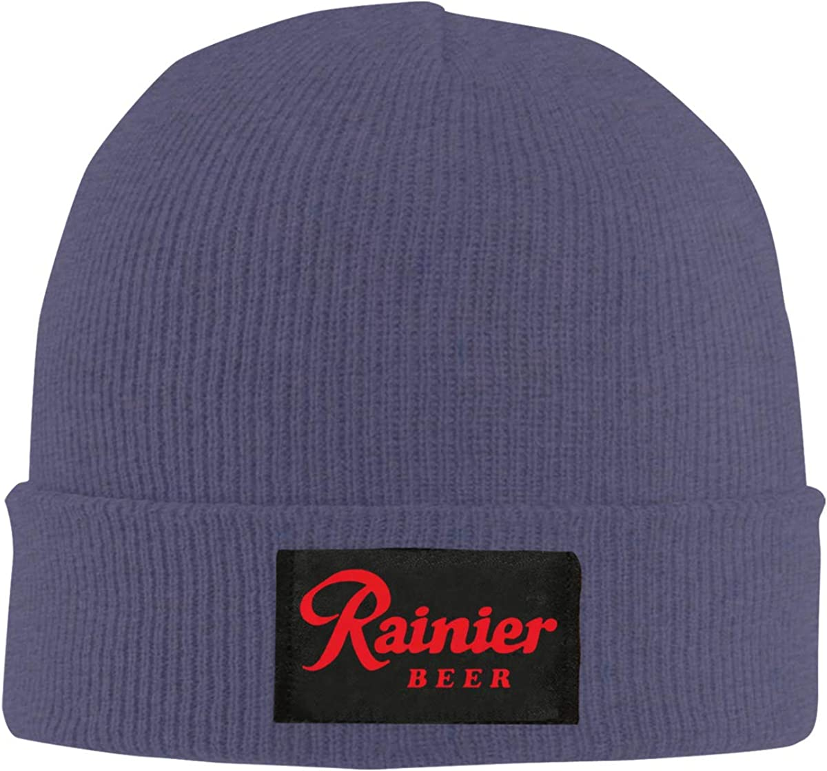 Knitted Hat Rainier Beer Comfortable Caps for Unisex Black Cap