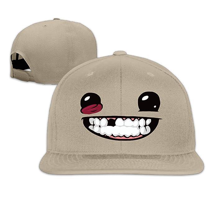 amazon super meat boy unisex adjustable flat hat bill baseball cap outdoor sports colors clothing the good dinosaur toddler