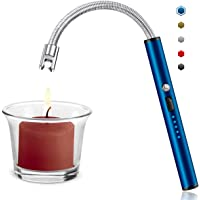 ST-Transfer Candle Lighter, Upgraded USB Charging Arc Lighter with 360° Flexible Neck, Suitable Ignite Light Candles Gas…