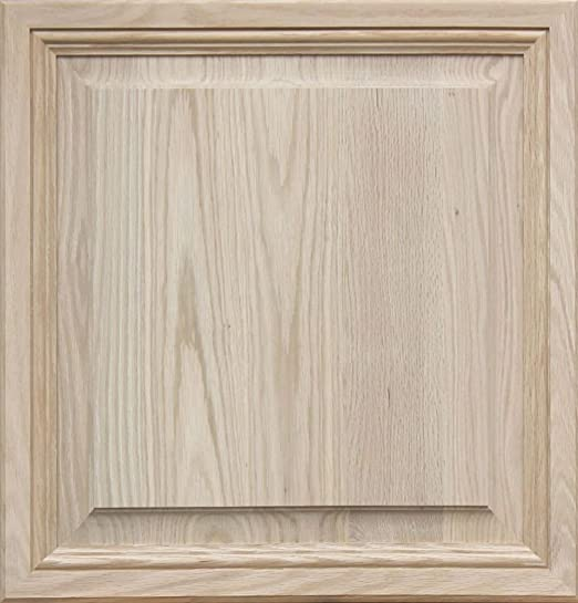 Square with Raised Panel by Kendor 13H x 23W Unfinished Maple Cabinet Door
