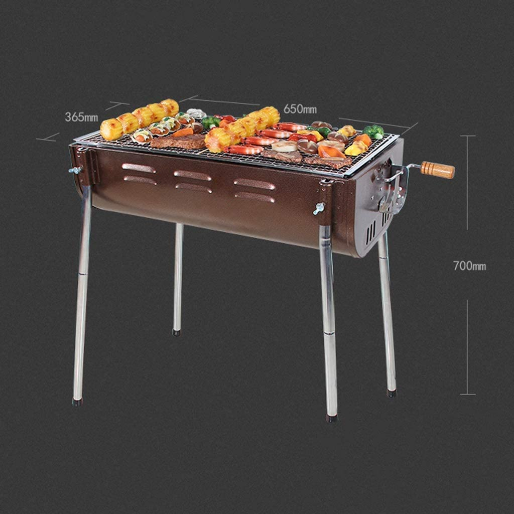 Barbecue Grill Barbecue Grill,Maison portative extérieure pour Plus de 5 Personnes Outils de Barbecue à Charbon de Bois épaissi Barbecue à Charbon de Bois @ (Couleur: B) A