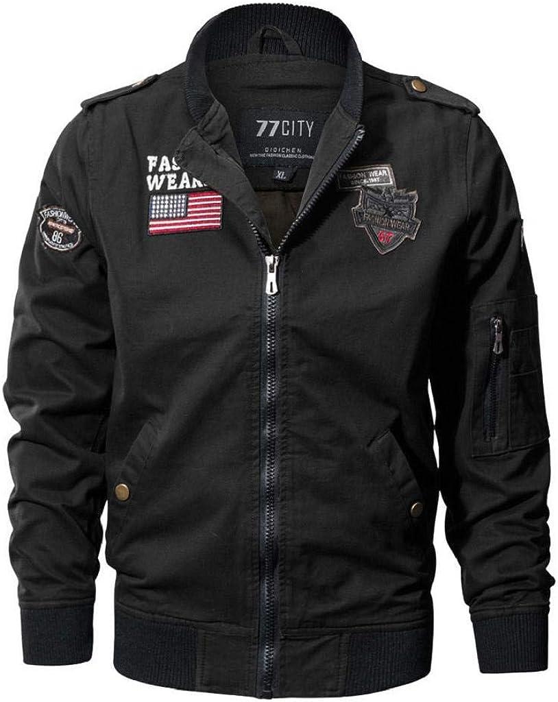 DOINSHOP Mens Winter Jacket Coat Lapel Military Clothing Tactical Breathable Coat Outwear