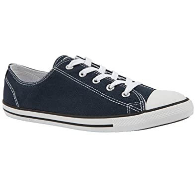 Ladies Converse Dainty ox Navy Canvas Shoes Size 8  Amazon.co.uk ... 2edb3fb9a