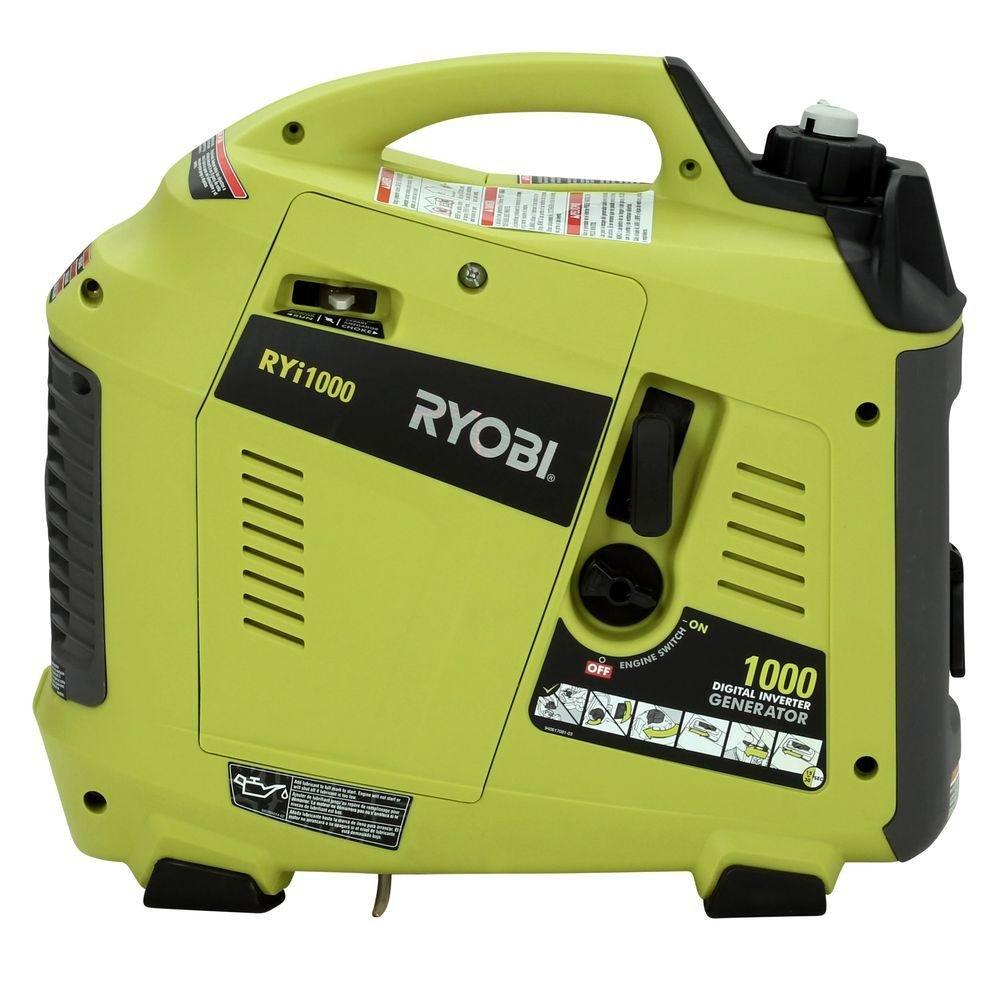 Ryobi Digital Inverter Generator 1000 Watt Ryi1000 Two Way Switch For Garden Outdoor