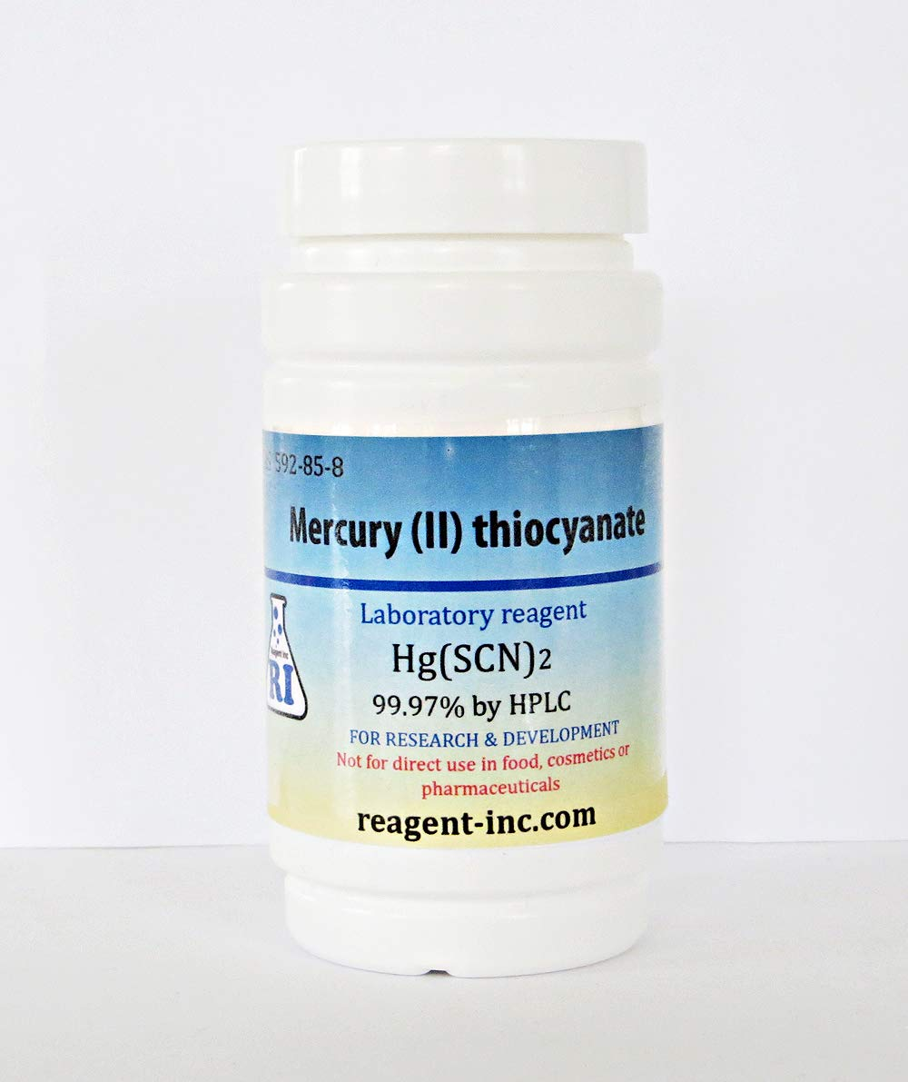 Mercury (II) Thiocyanate, 99.97%, Analytical Reagent (ACS), 25 g