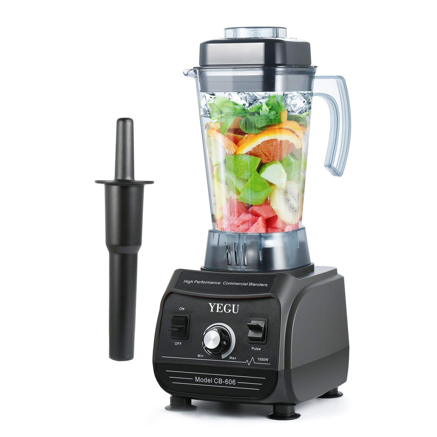 YEGU 1500W Pofessional High Speed Blender 27000 R/Min Blender for Kitchen, Fruits, Vegetable, Even Nuts, 67 OZ Container with Pulse Self-Cleaning