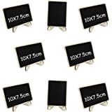 Miraclekoo Mini Rectangle Chalkboards with support for Wedding, Parties, Table Top Numbers, Food Signs, Decorating Signs,Message Board Signs,Set of 8