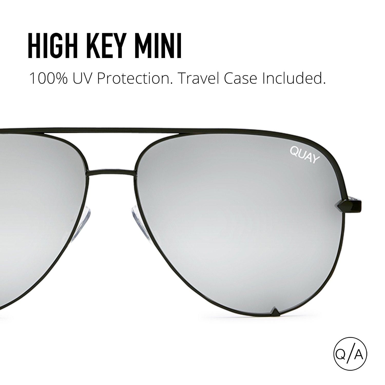 Quay Australia HIGH KEY MINI Men's and Women's Sunglasses Aviator Sunnies - Black/Silver by Quay Australia (Image #6)
