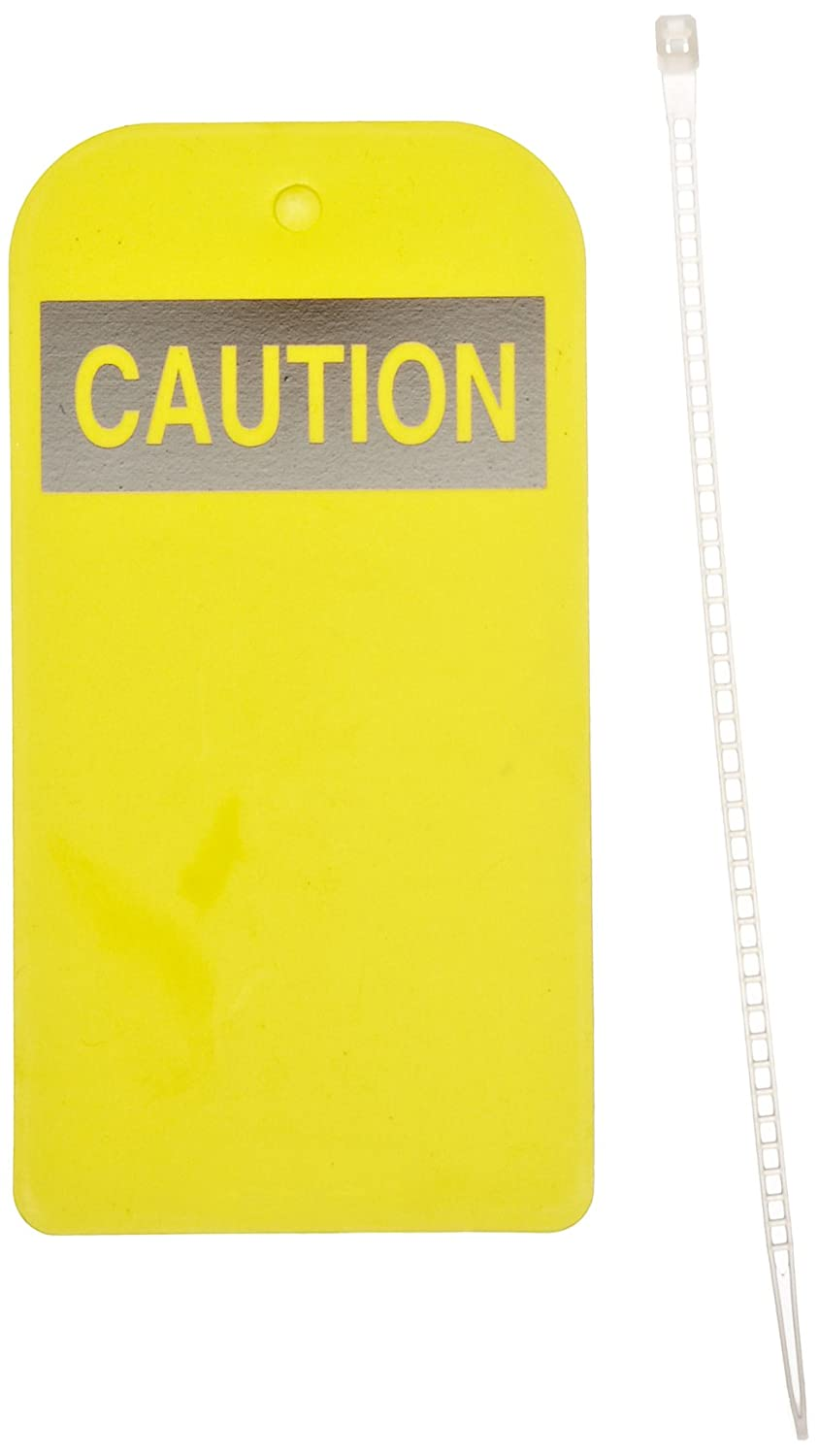 North Safety Caution Tag Pack of 25 Yellow 4 Width Styrene 8-1//2 Length 4 Width EEA305Y 8-1//2 Length