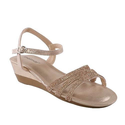Calzado de mujer sandalias con tiras beige talla 36 | Compra
