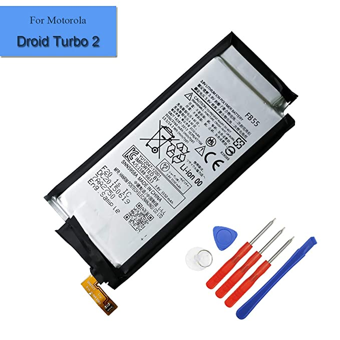 New 3550mAh Replacement Battery FB55 Compatible with Motorola Droid Turbo 2 XT1581 XT1585 Internal Battery +