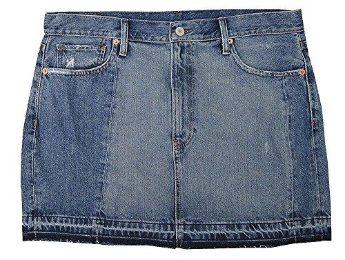 Polo Ralph Lauren Denim & Supply Ralph Lauren Frayed Denim Skirt (Curtis, 31) -