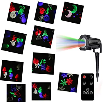 dertring Proyector de luz de Navidad, 10 diapositivas blanco ...