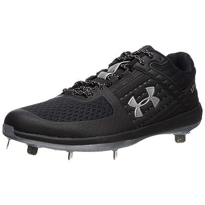 Under Armour Men's Yard Low ST Baseball Shoe, Black (002)/Metallic Silver, 11 | Baseball & Softball