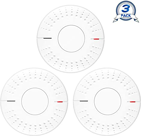 smoke detector interconnect wiring diagram elvicto 3 pack photoelectric smoke detector sealed in 10 year  photoelectric smoke detector