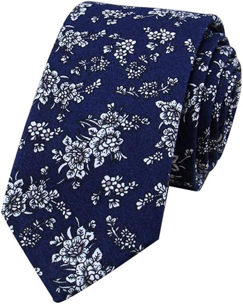 JUNGEN Corbata de Hombre Corbata Estampada de Flores Corbata ...