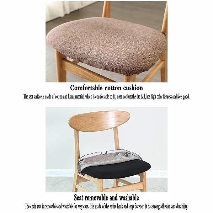 Amazon.com: LJFYXZ Dining Chair Oak Furniture Butterfly Back ...