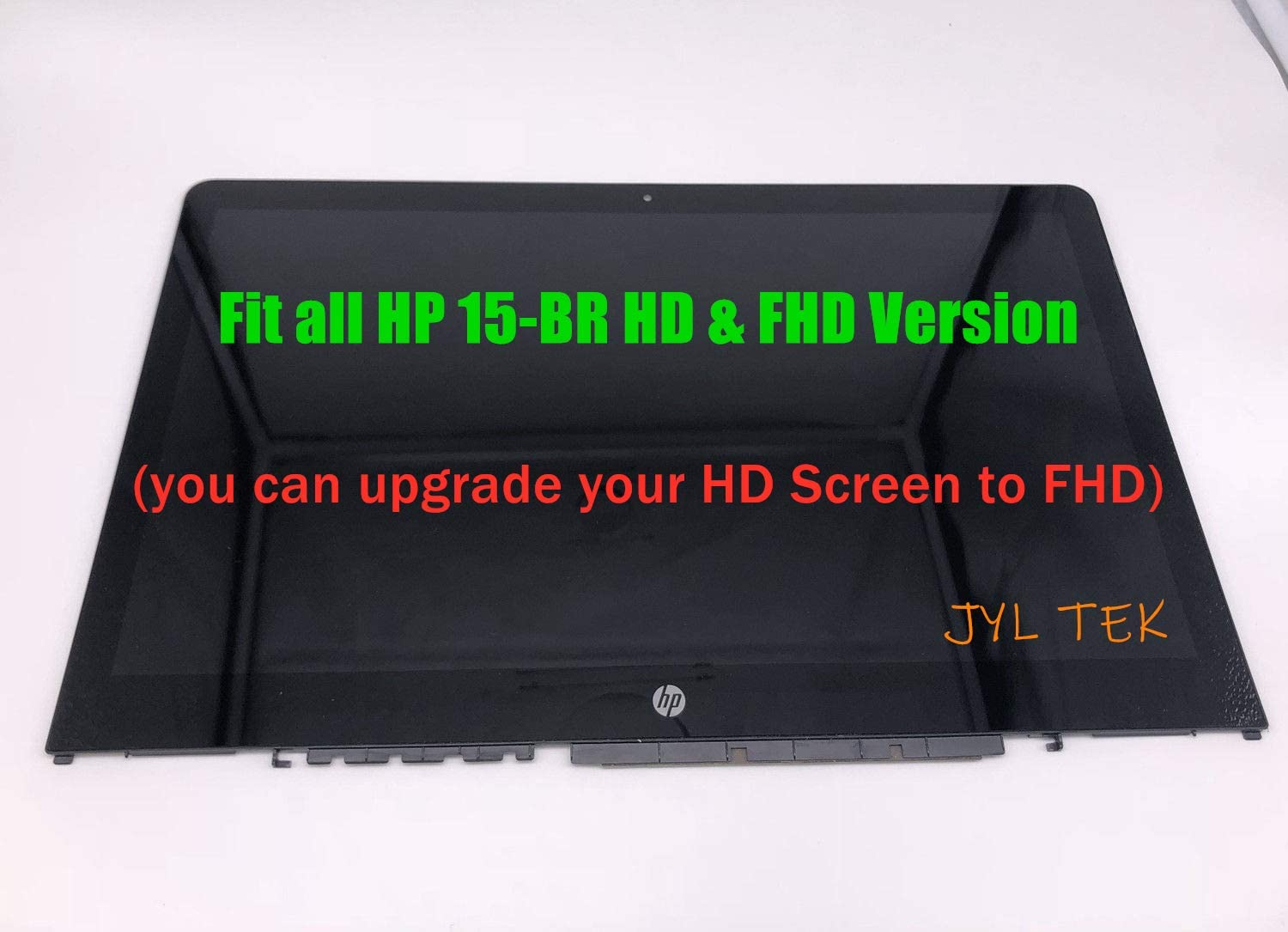 "for HP 15.6"" FHD LCD Screen Display Touch Digitizer Bezel Assembly 924531-001 Pavilion X360 15-BR052OD 15-BR082WM 15-BR020CA"