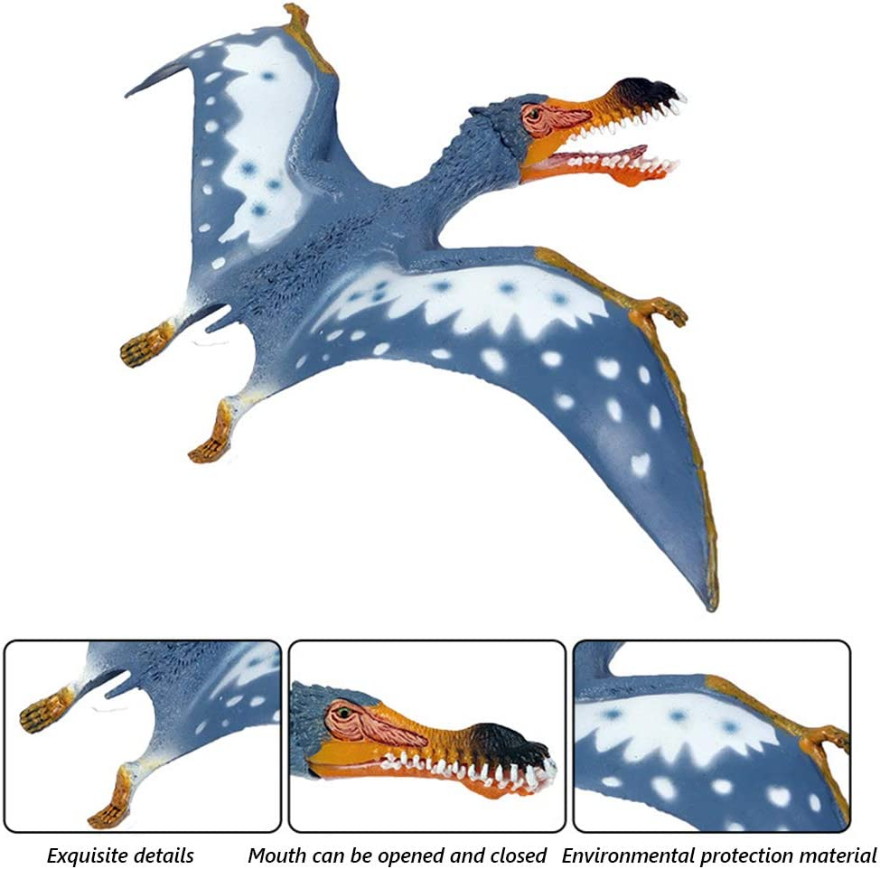 Home Decoration Realistic Educational Large Dinosaur Figures Party Favor EOIVSH 3 Pack Jurassic World Dinosaur Toy Pterosaur Plastic Wildlife Animal Model Figurines Great for Collection Gift