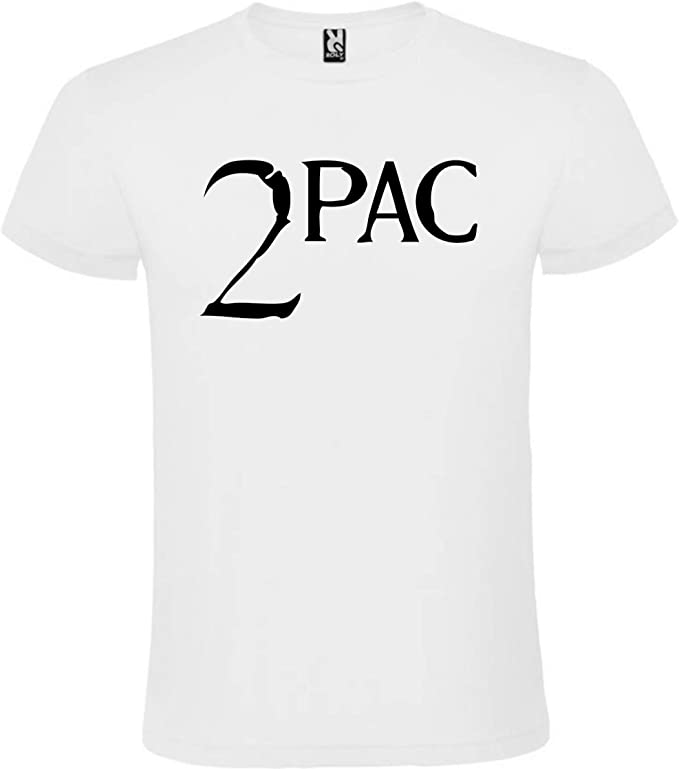 Camiseta 2PAC Blanca para Hombre 100% ALGODÓN Talla S M L XL XXL ...