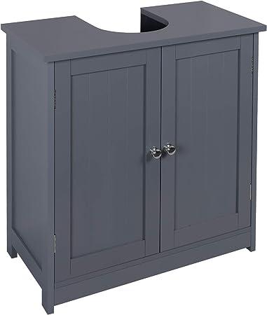 Oferta amazon: eSituro Mueble Bajo Lavabo Armario de Suelo para Baño Mueble de Baño Organizador Estante de Baño Armario de Almacenamiento, MDF Gris 60x30x60cm SBP0045